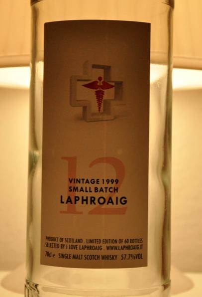 questa la bottiglia, ahinoi, vuota...