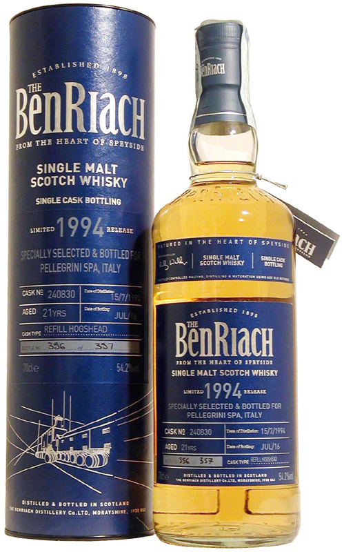 whisky benriach 21 yo