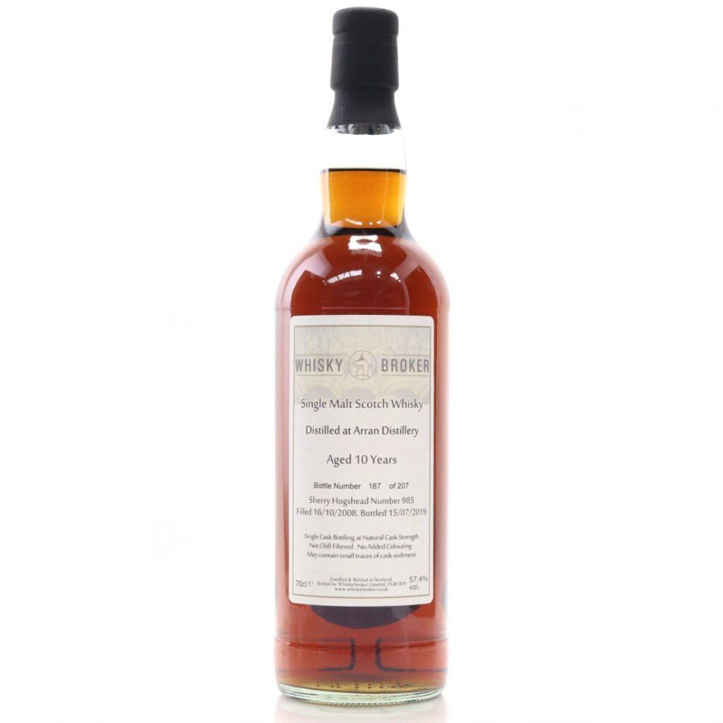 Arran 10 yo (2008/2019, Whisky Broker, 57,4%)